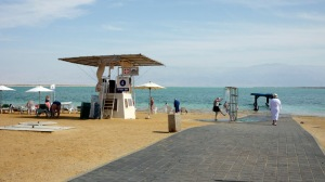 Lifeguard station at Leonardo Plaza Hotel beach