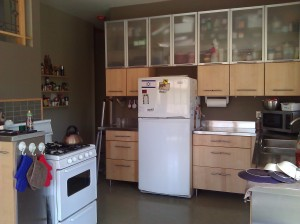 My IKEA kitchen, small but functional (click to enlarge)