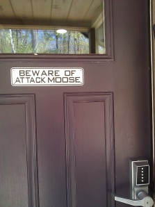 Yes, I know it's kitschy, but how could I not buy this sign for my front door?