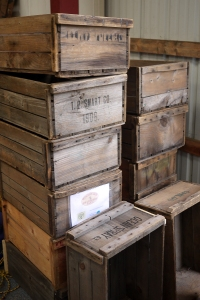 Antique crates, ca. 1908