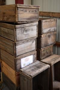 Antique crates, ca. 1908