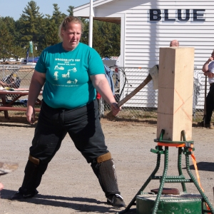 "This woman (known as a ""lumberjill"") won every one of the women's events.  She was STRONG!"