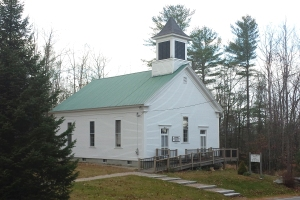 The church that Col. Nevers built and donated to the town, still in use today.