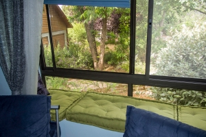 the sitting area of our zimmer looks out onto the garden