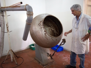 John Alford describes his chocolate-making operation.
