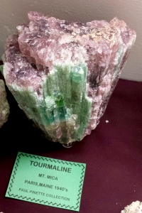 a huge piece of watermelon tourmaline