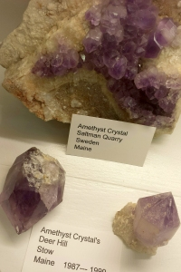 Amethyst found in a mine in the White Mountain National Forest,  not far from where I live