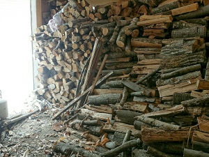 But as you can see, we still have plenty of wood left in the rest of the shed.